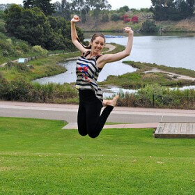 Ava Jumping at UCSB