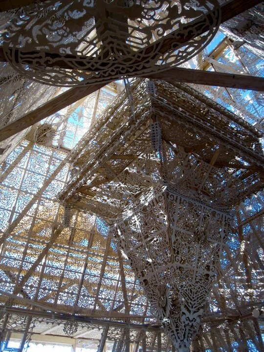 the inside of the temple at burning man 2012