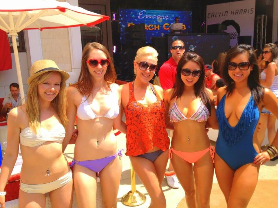 Ava at Encore Beach Club with Calvin Harris