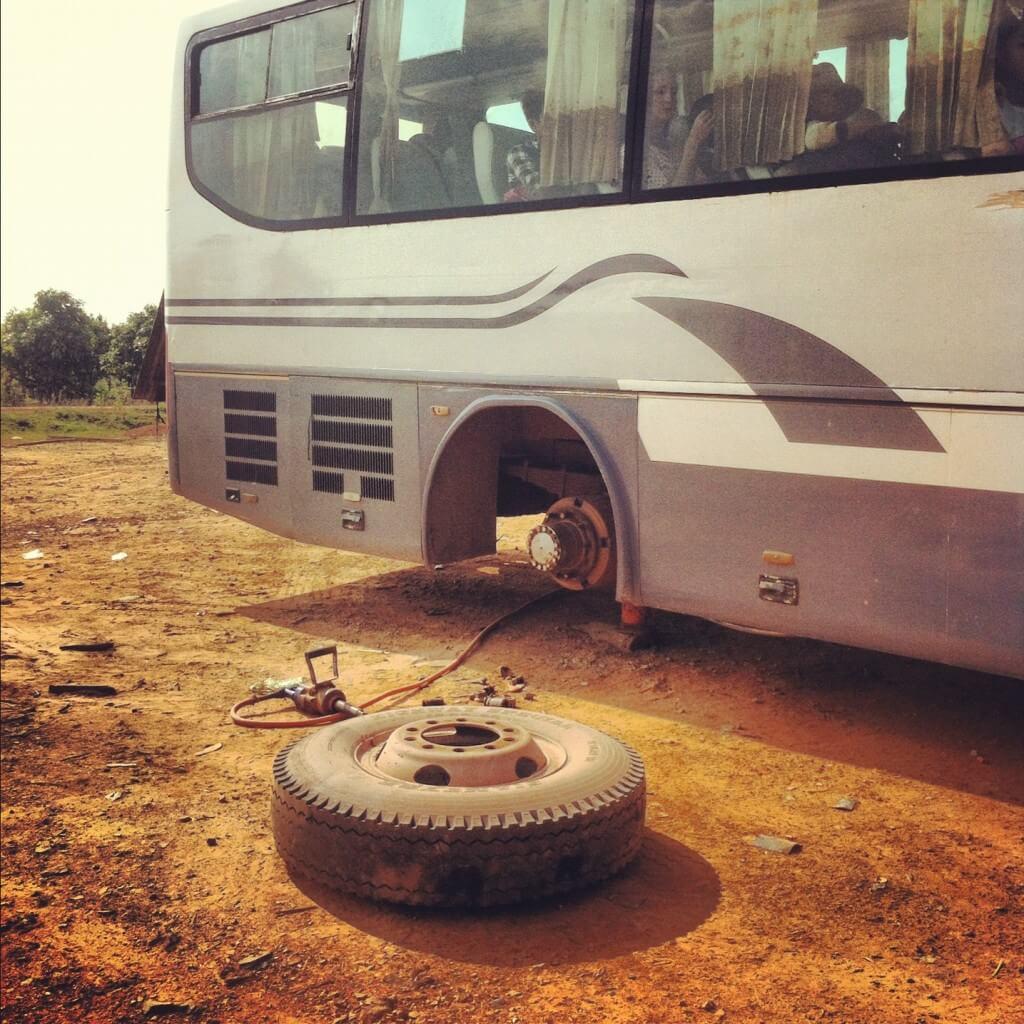bus trouble in Cambodia