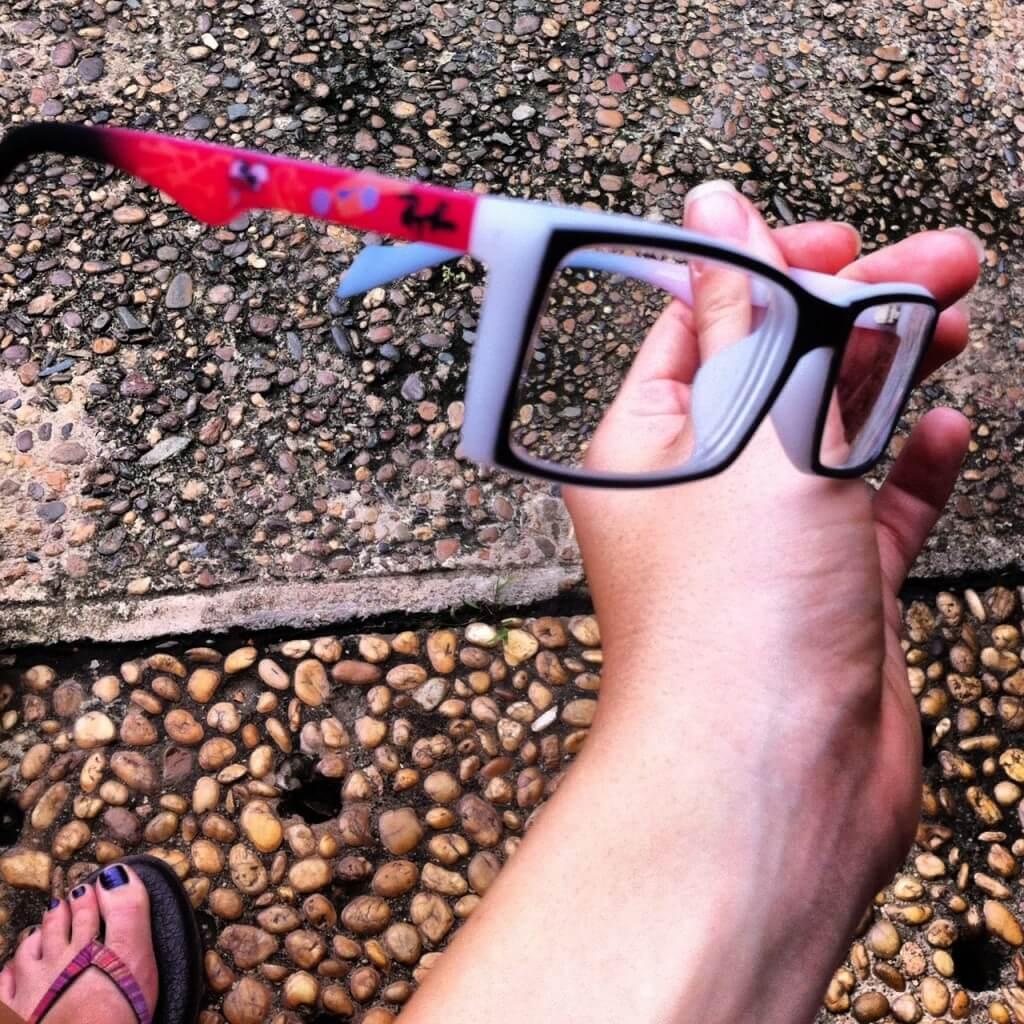 glasses from phnom Penh, cambodia