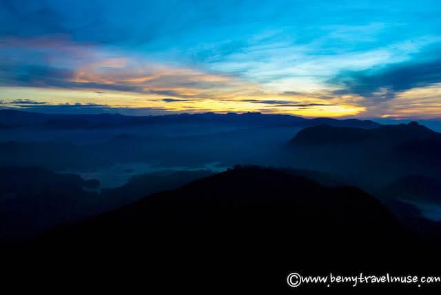 adam's peak sunrise