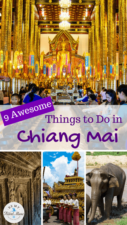 Heading to Chiang Mai, Thailand? Here are 9 suggestions of awesome things to do to make your time there amazing and memorable. Read more at https://www.bemytravelmuse.com/things-to-do-in-chiang-mai/