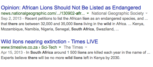 is lion tourism in south africa ethical