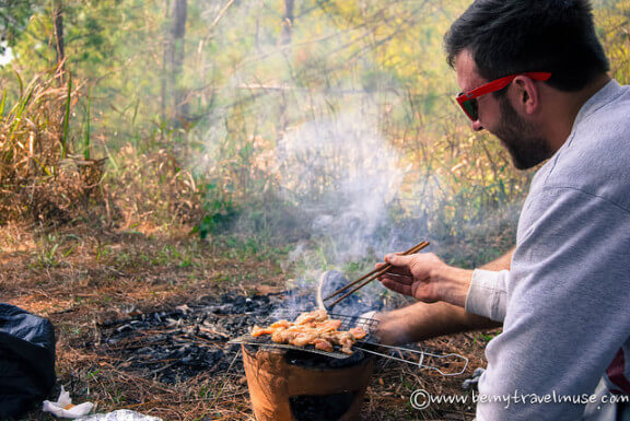 Grilling in Da Lat