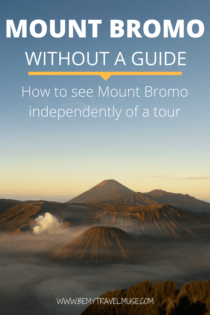 A comprehensive guide to trekking the Mount Bromo without a guide. Learn how you can trek to Indonesia's infamous volcano independently | Java travel tips | Off the beaten path adventures | Southeast Asia backpacking tips | Be My Travel Muse