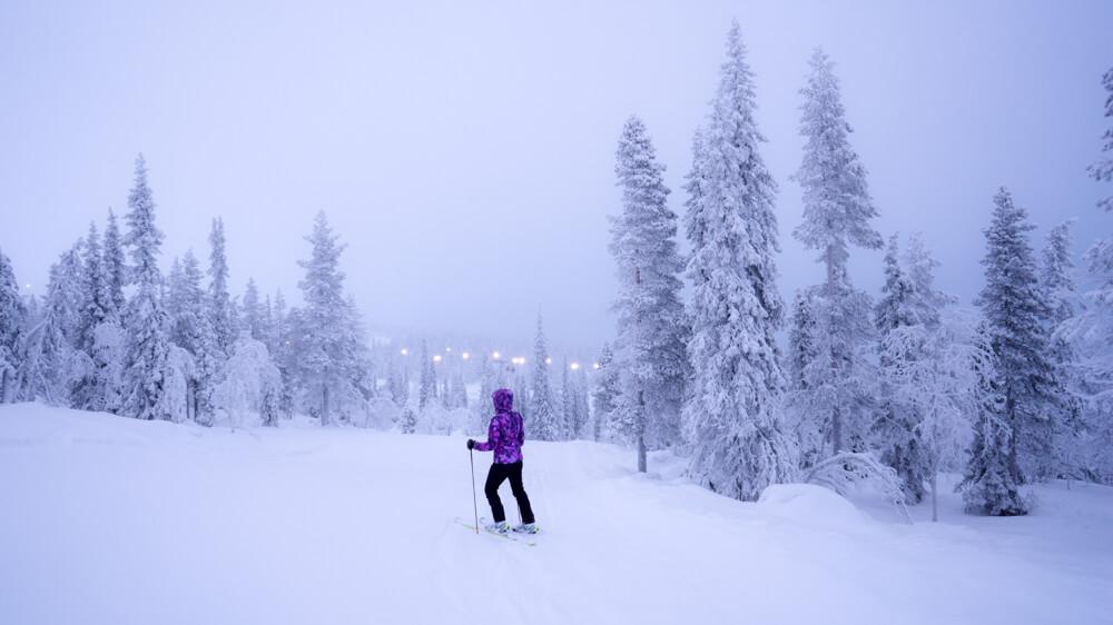 skiing in Ylläs