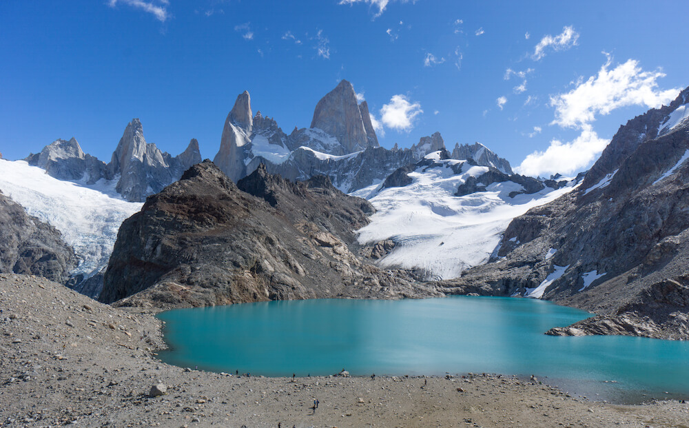 What you see at the base of the Fitz Roy. Wowzers!