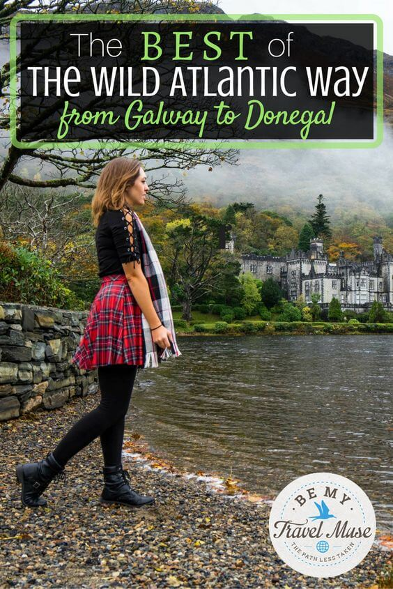 Insider tips, where to stay, where to eat, and what to see from Galway to Donegal on the Wild Atlantic Way. Plus, some secret spots and a map with stops. Read more at  https://www.bemytravelmuse.com/wild-atlantic-way-galway-donegal/
