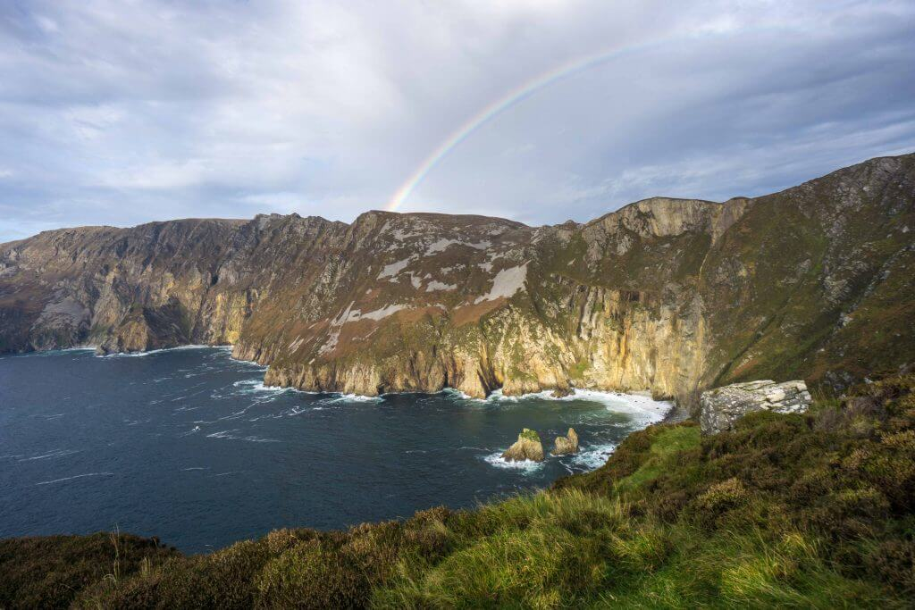 Full rainbow arc over the cliffs? C'mon now, just stop it, Ireland