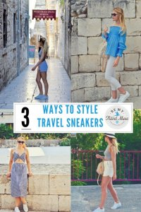 Want to be comfortable and fashionable when you travel? Here are three great ways to style sneakers so that you can look fabulous on the go!
