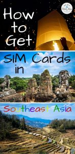Are you traveling with an unlocked phone and wondering how to Get SIM Cards in Southeast Asia? This guide explains each country and how to find and use them