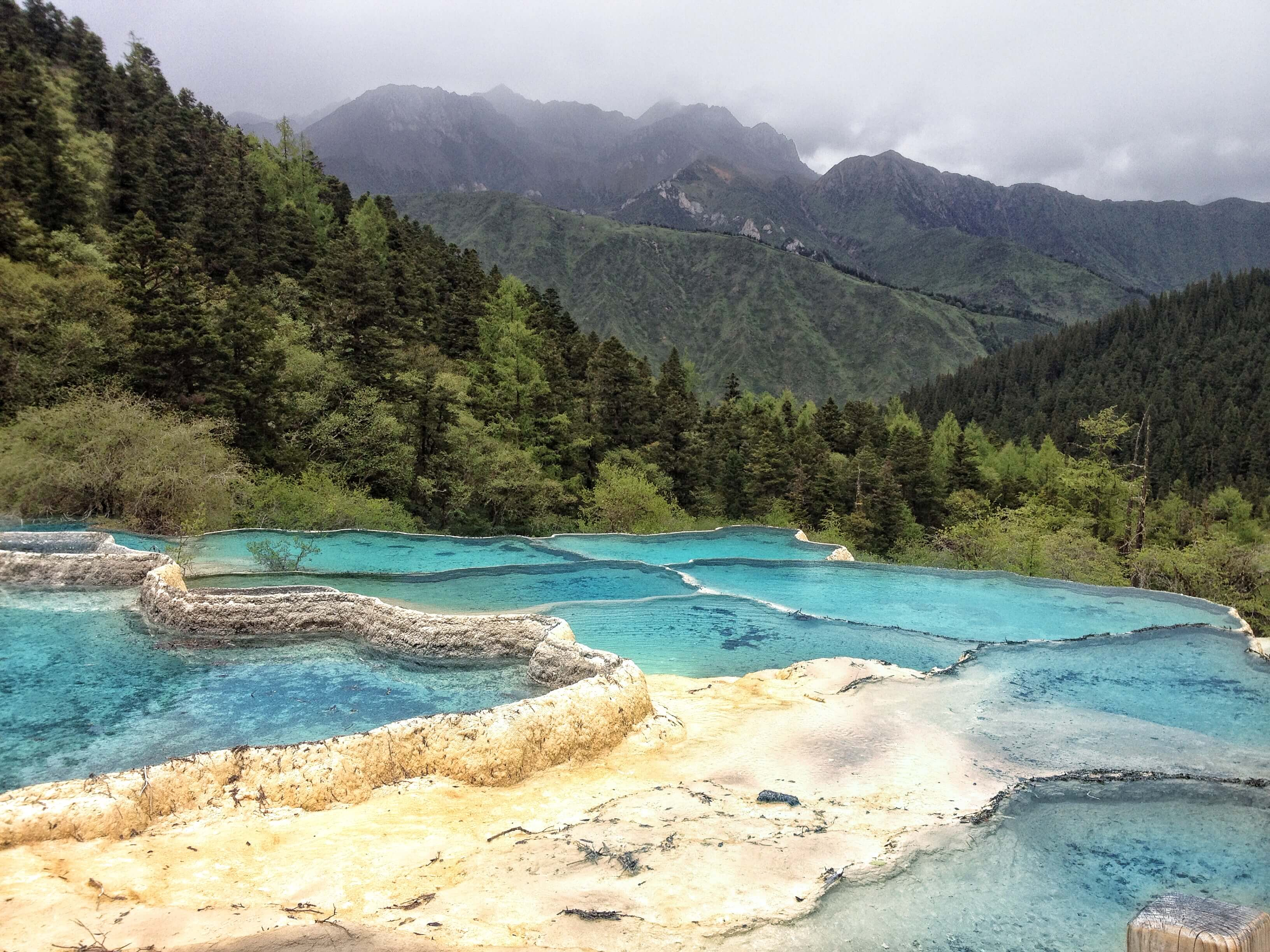 the views of huanglong national park