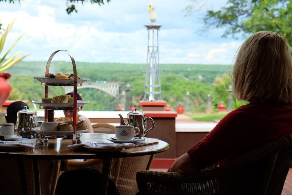 Tea at the Vic Falls Hotel