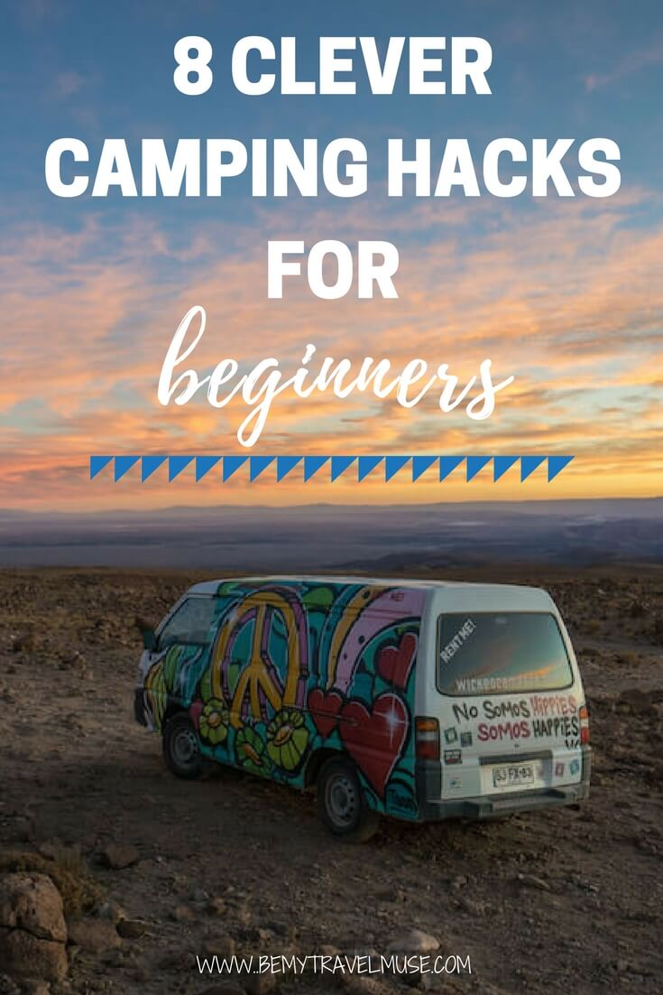 Camping for the first time and unsure what to bring? These hacks for beginners will help make your trip easier and more fun, whether in a van, car, or tent! | Camping for Beginners | Camping Tips | Be My Travel Muse