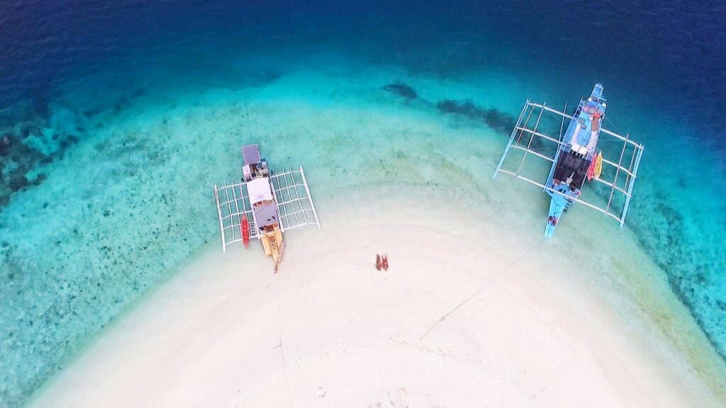 Island hopping in the philippines