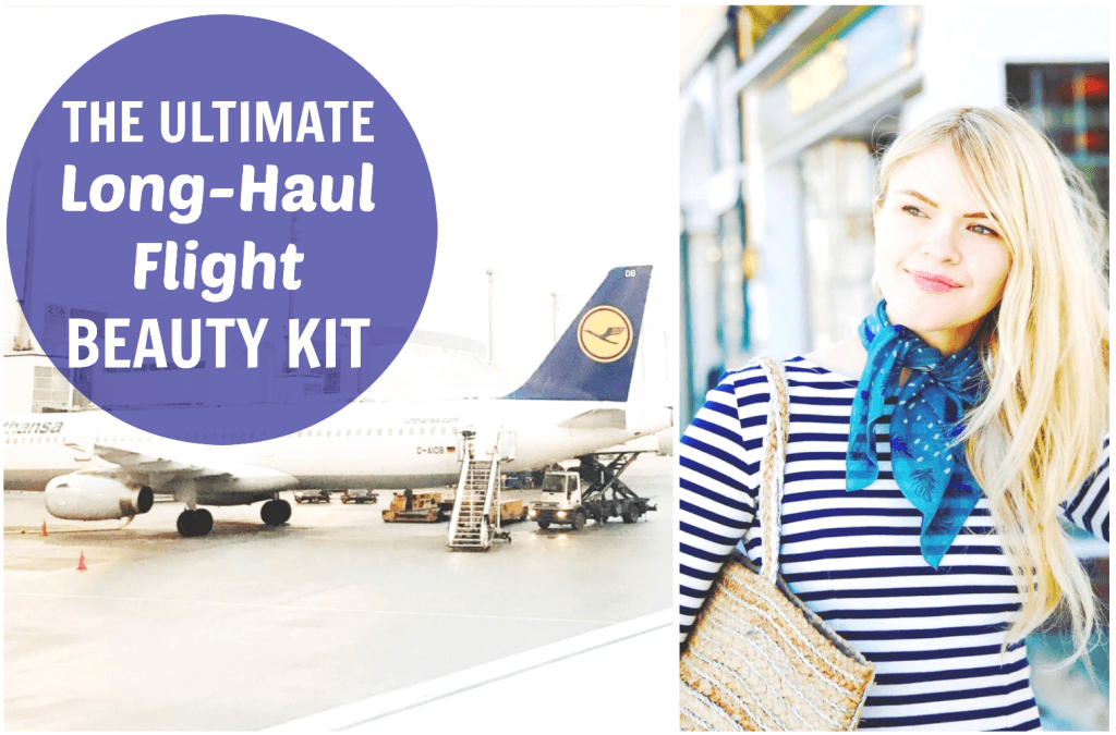 how to look good after long flight