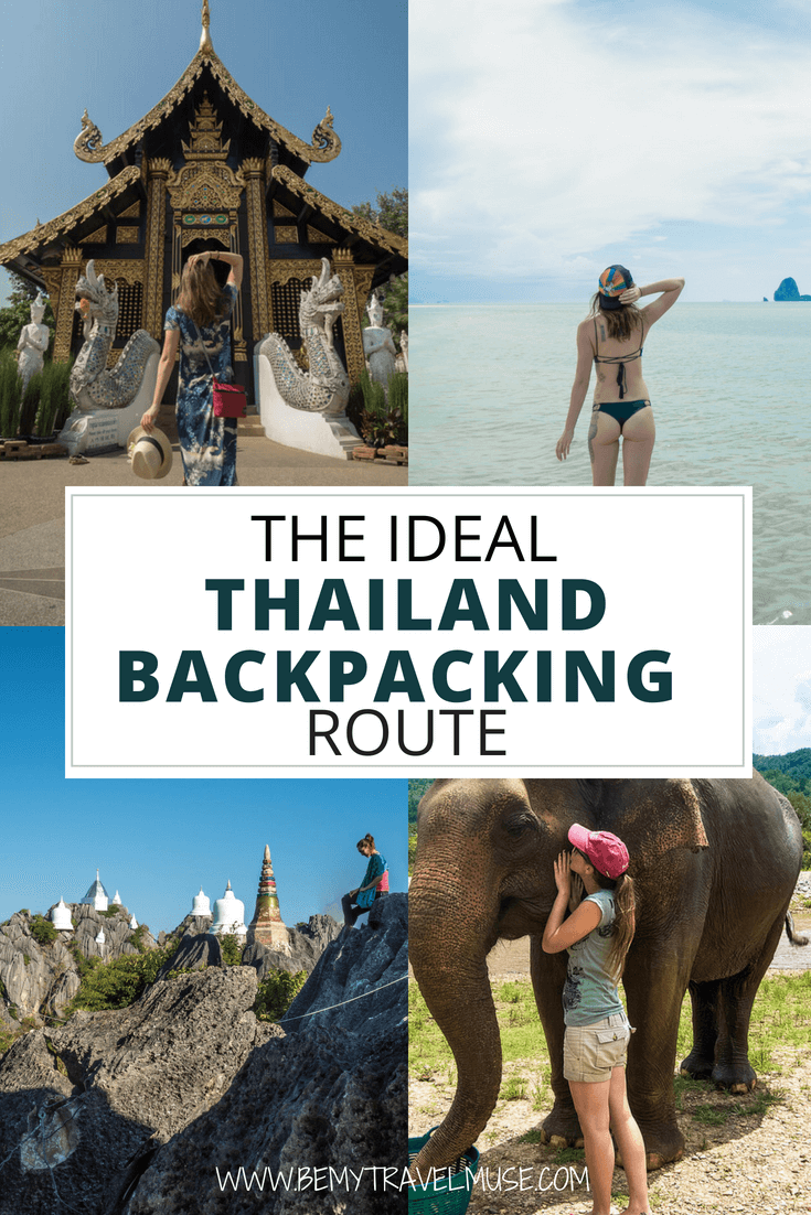 This is the ideal Thailand backpacking route that includes nature, city, beaches and mountains for your itinerary. Check out the best places to go, from Northern Thailand, Central Thailand, to Southern Thailand, The Thailand best Thailand beaches according to your travel style, and so much more #Thailand #BackpackingThailand