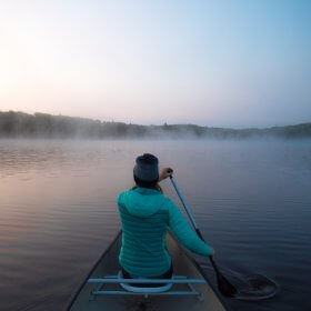 Canoeing in Manitoba's Nopiming Provincial Park
