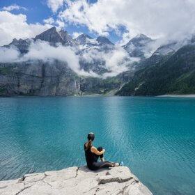 Chasing Waterfalls at Oeschinen Lake, Switzerland
