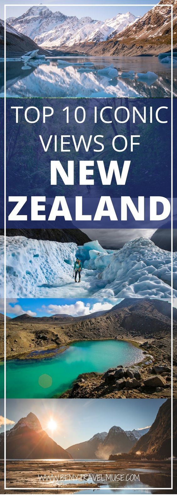 Traveling to New Zealand? Here are 10 iconic views that you truly can't miss. New Zealand is stunning and a photographer's dream. In this article, Liz from Young Adventuress rounds up top 10 iconic views of New Zealand that you need to add to your bucket list. Check it out! #NewZealand #NewZealandTravelTips