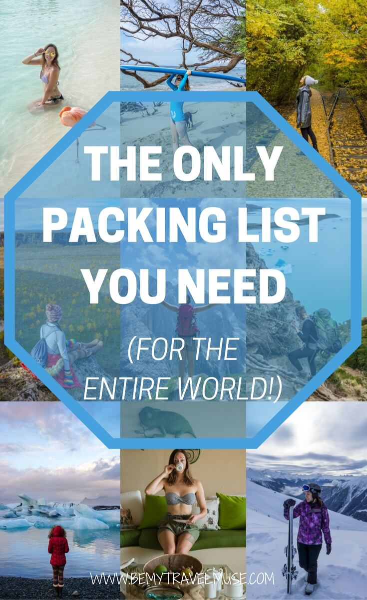 The ultimate packing list for women for the entire world. This is the only packing list you will need to pack quickly and efficiently for your trips and travels, from the essentials, bags, clothing for different climate, accessories, gadgets, and more. Whether you are planning a beach holiday or a winter break, I've got you covered | Be My Travel Muse