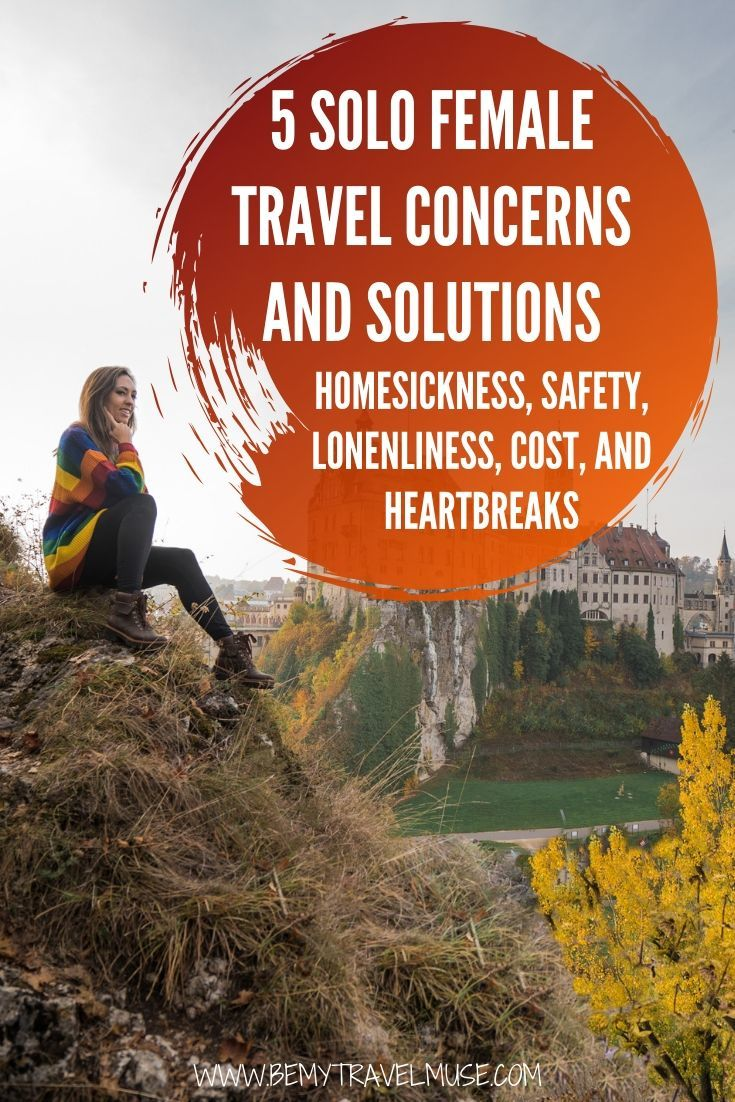 Worried about homesickness, safety, cost, loneliness and heartbreaks as a solo female traveler? Here are my best tips and advice from 7 years of solo travels around the world. If you are traveling solo for the first time, this post will be super helpful! #solofemaletravel