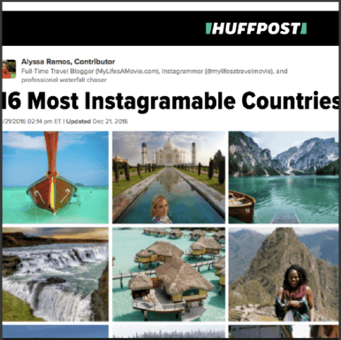 bemytravelmuse huffington post instagram