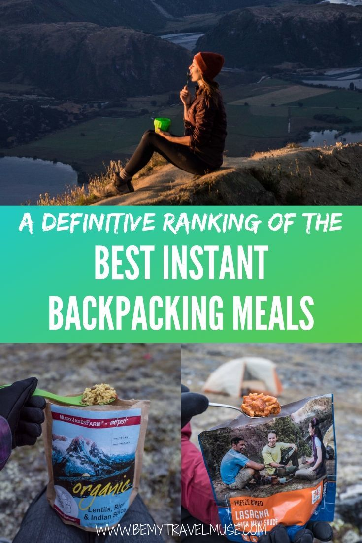 A Definitive Ranking of the Best Instant Backpacking Meals. Based on my own personal experience while backpacking in remote wilderness destinations, these are my favorite (and least favorite) backpacking meals and brands. From burritos to mac and cheese, you don't have to forgo delicious, filling food when hiking and trekking. | Be My Travel Muse #Backpacking #Hiking