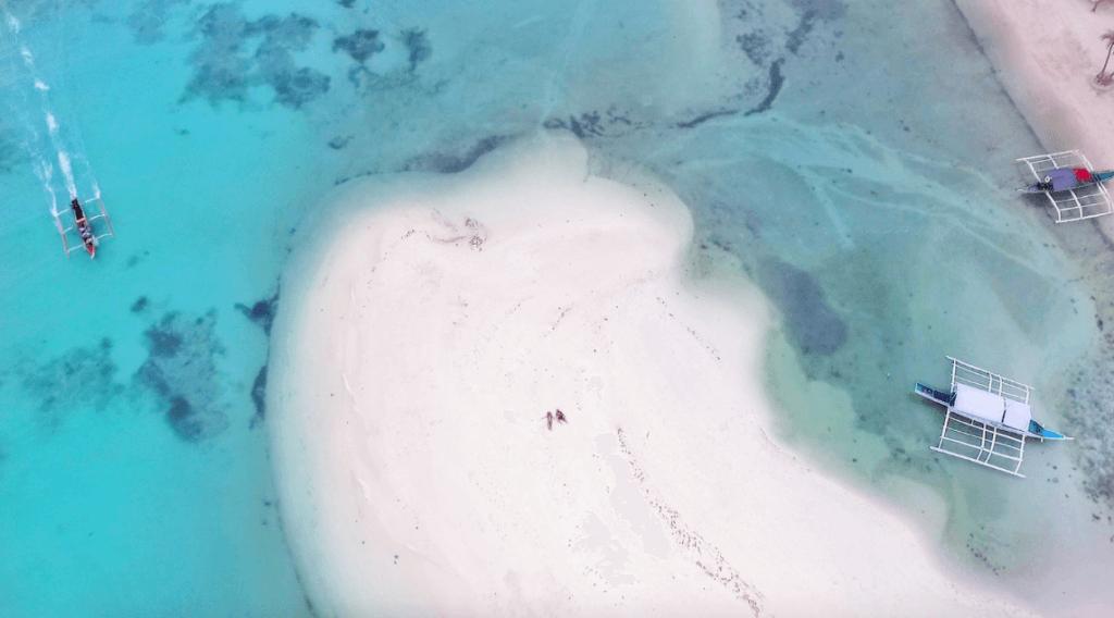Philippines bantayan island dron