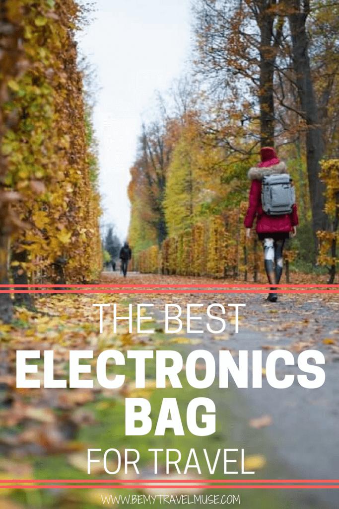 The best electronics bag for travel   Pacsafe electronics bag   Best bag for electronics gadget   Travel electronics bag   Digital nomad lifestyle   Be My Travel Muse #DigitalNomad #TravelElectronicsBag #Pacsafe