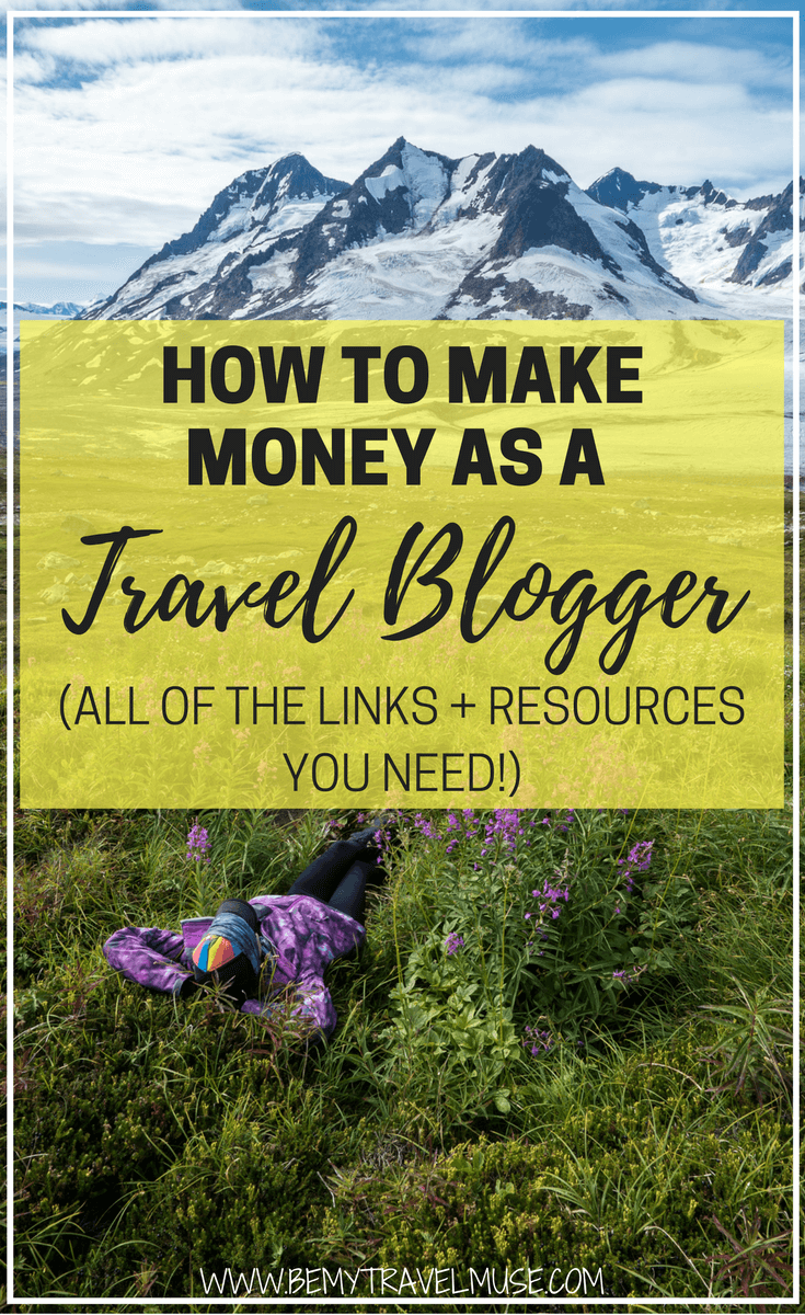 How to make money as a travel blogger - a question that many has! Here are all of the links and resources you need to start a travel blog and make travel blogging a sustainable career | Travel blogging inspiration | digital nomad tips | Be My Travel Muse
