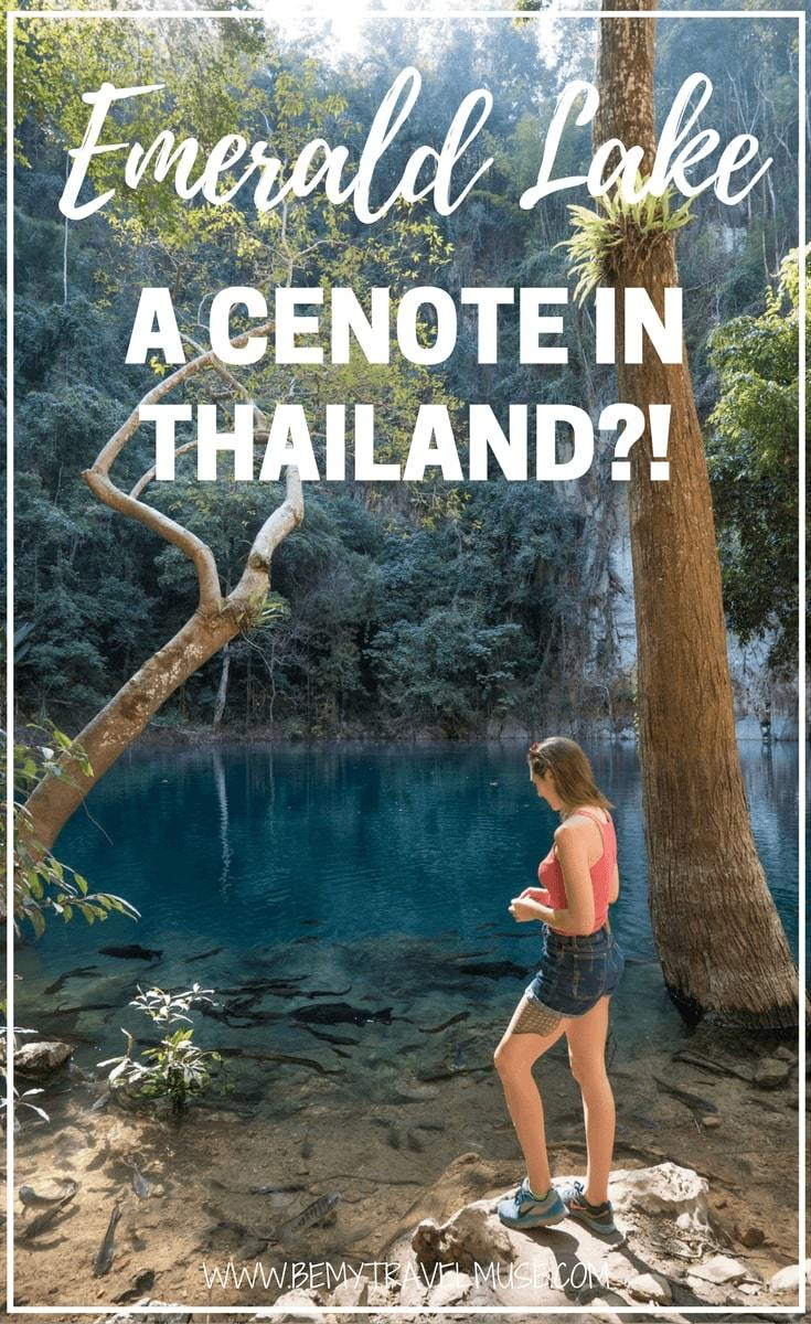 Looking for a place that is truly off the beaten path in Northern Thailand? Here is a cenote that is little known to tourists. One of the most amazing places in Thailand I've personally been to, this is a secret gem I almost did not want to share! Be My Travel Muse | Thailand road trip | Lampang things to do | Amazing places in Thailand