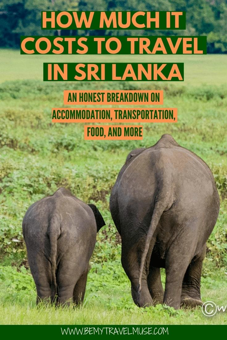 How much it really costs to travel in Sri Lanka? I was able to travel in Sri Lanka on $31/day. This article breaks down the accommodation, transportation, food and other costs to help you plan an amazing trip to Sri Lanka on a budget. #SriLanka #SriLankaTravelTips