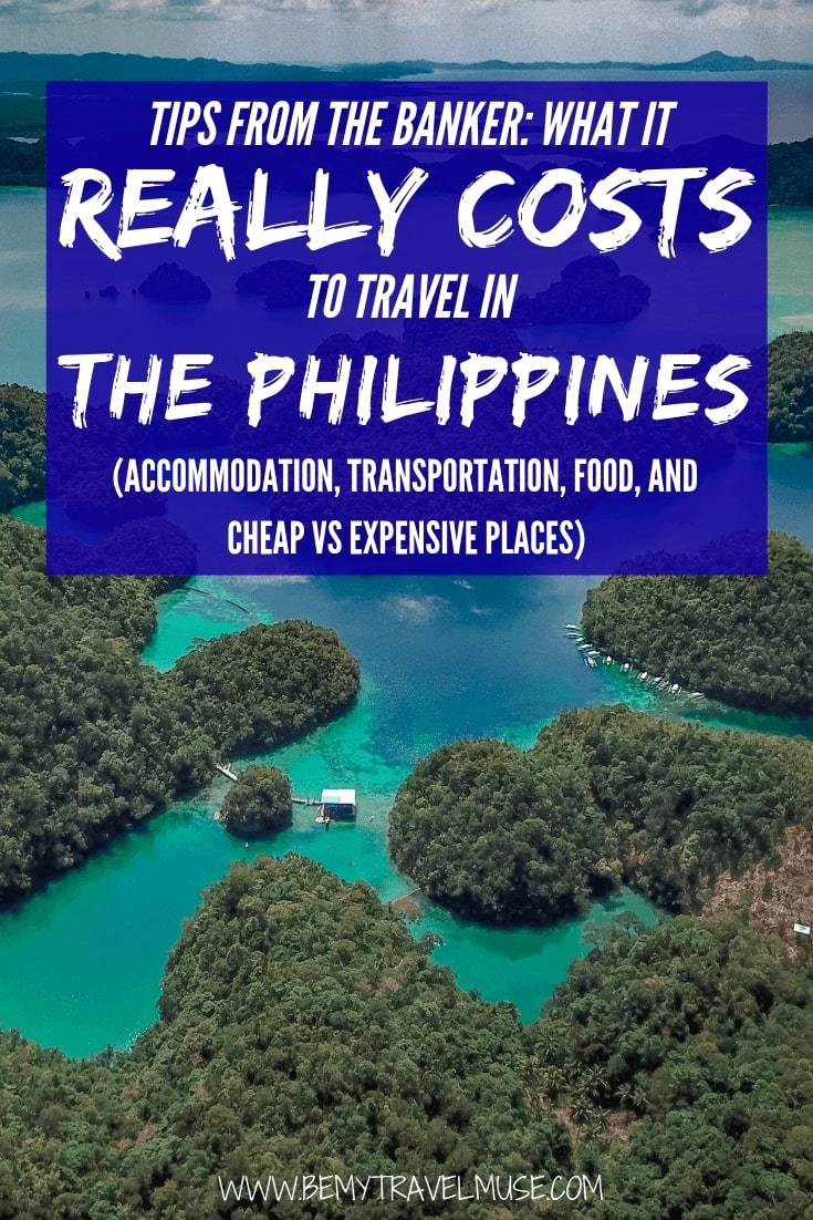 An honest breakdown on what it really costs to travel in the Philippines. Note: it is not as cheap as other Southeast Asia countries, but I've included tips on how you can travel in the Philippines on a budget! #Philippines #PhilippinesTravelTips