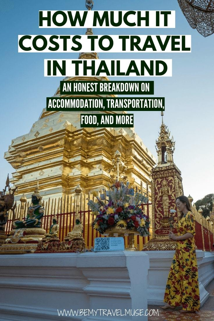 how much it really costs to travel in Thailand? I have spent 5 months traveling in Thailand, and here's an honest breakdown on accommodation, food and other expenses to help you plan your trip to Thailand #Thailand #ThailandTravelTips