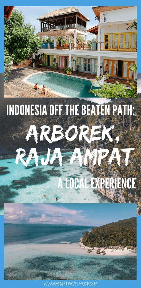 For a local experience that's off the beaten path in Indonesia, check out Arborek in Raja Ampat. Here's a complete guide with tips on getting there! #RajaAmpat #Indonesia