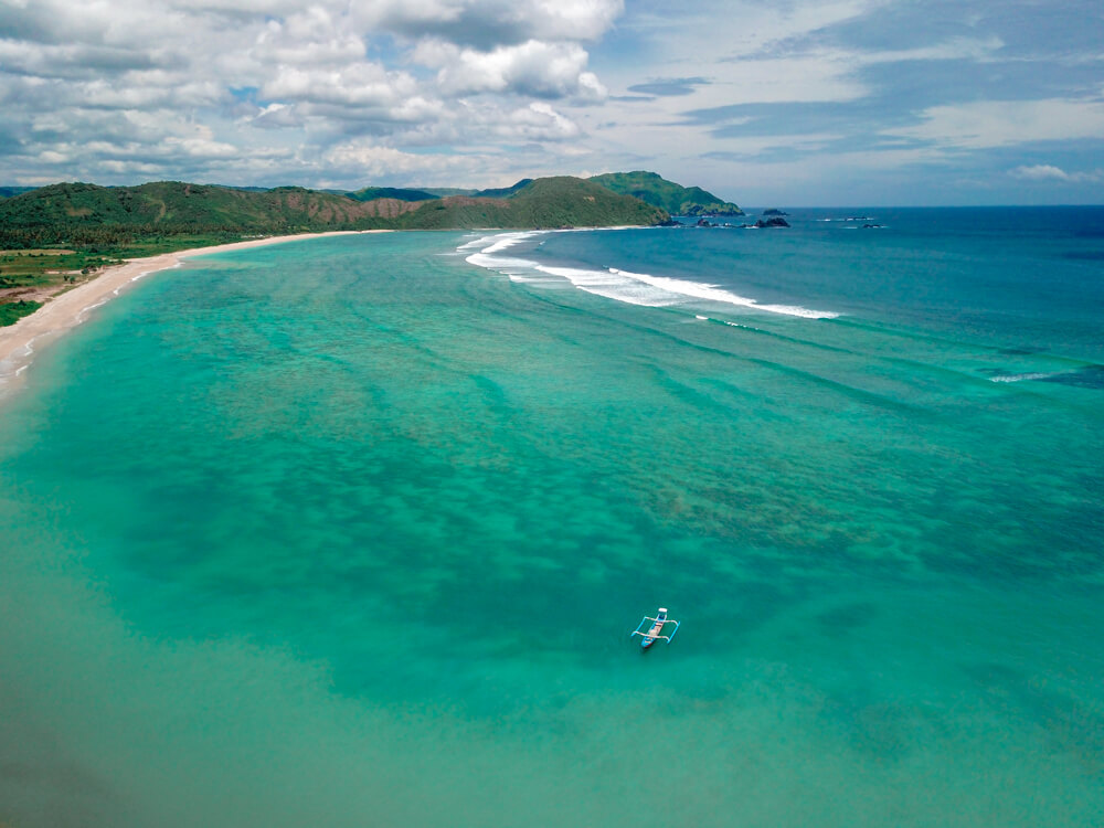 Lancing beach lombok Indonesia