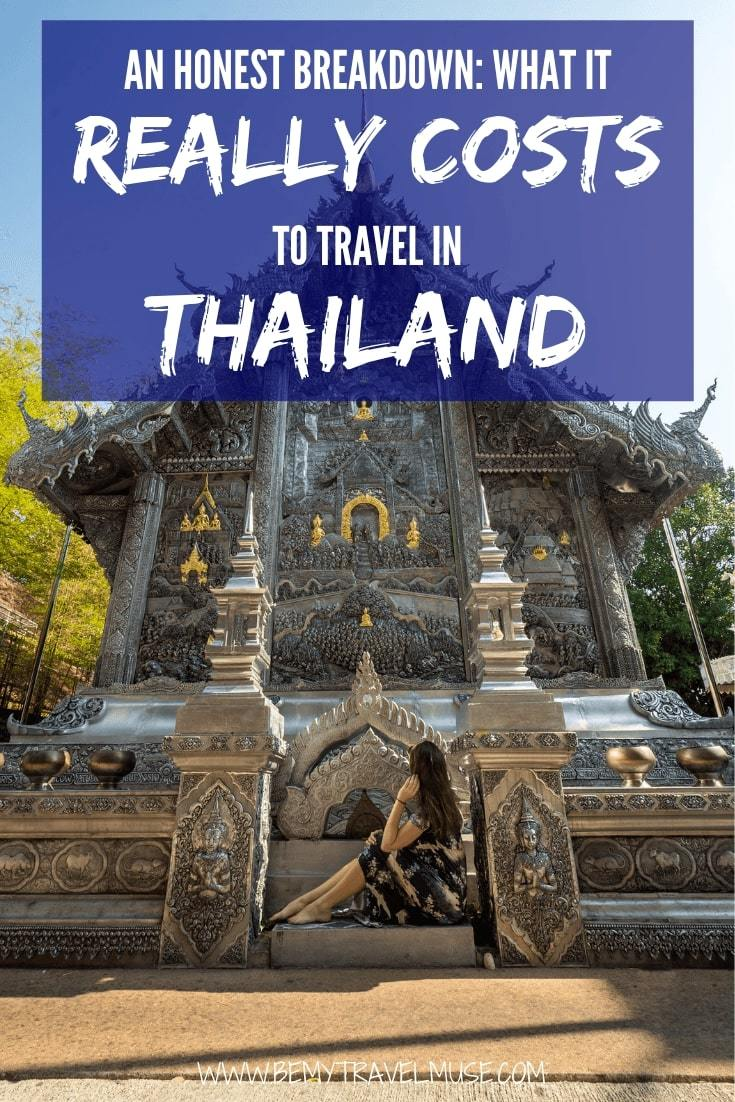An honest breakdown on the cost of traveling Thailand, from accommodation, transportation, food to other expenses. This article will help you plan the best trip to Thailand! #Thailand #ThailandTravelTips