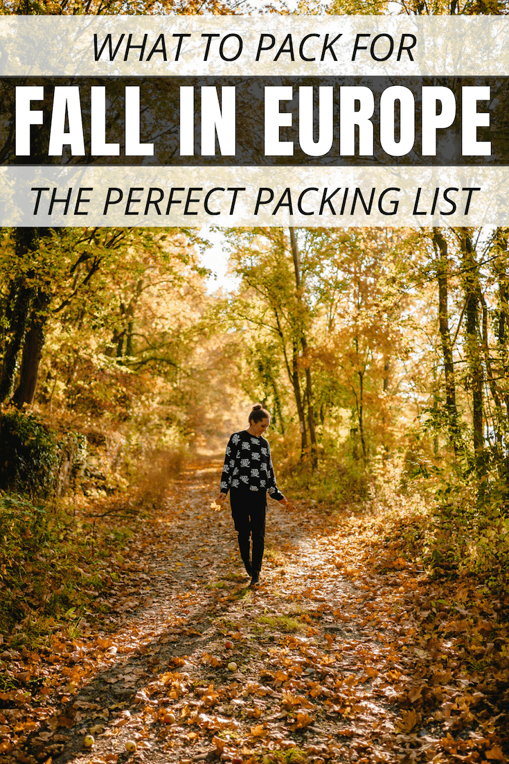 Packing for your fall holiday in Europe can be easy, light and stylish! Here are my best tips on how to pack for fall in Europe, a complete packing list, and a cute kit with the best clothes to bring to Europe in the fall that you can purchase immediately! #FallPackingList #FallTravelTips