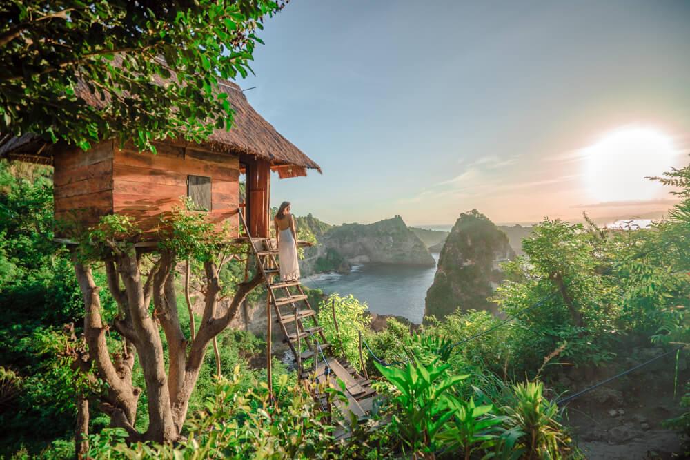 Nusa penida, treehouse, rumah pohon