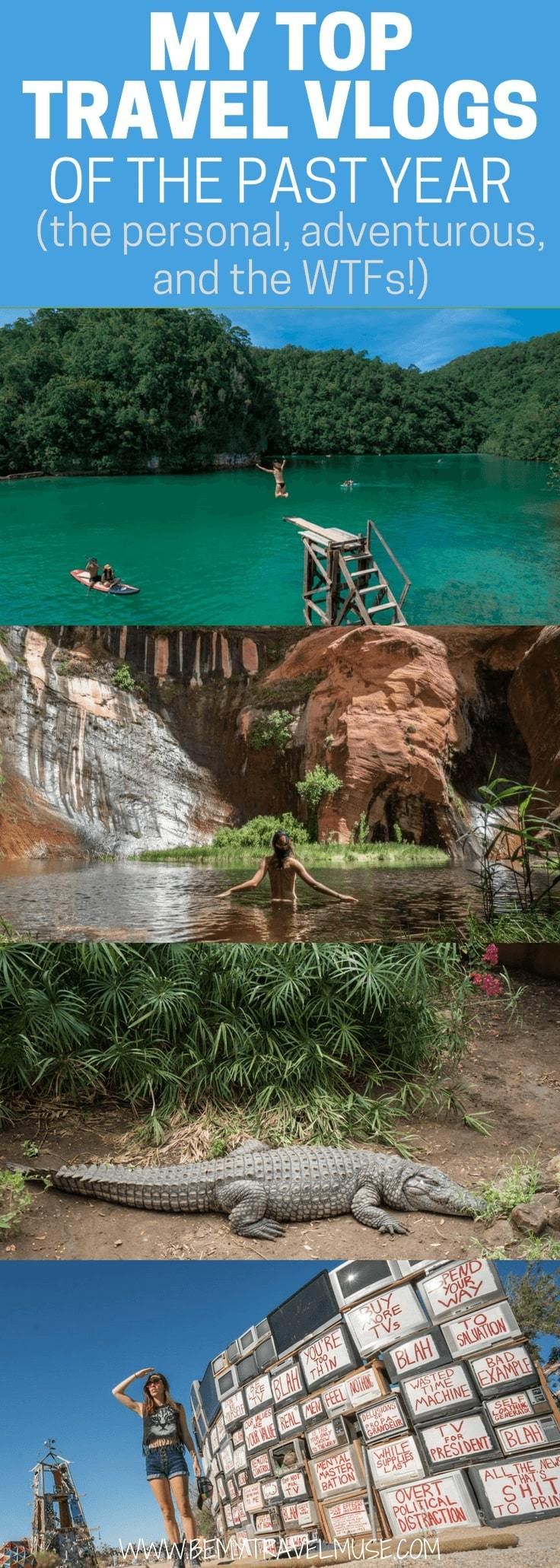 All of my best adventures captured on video of the past year in this article! I visited the Slab City, the last free place in America; almost got carried away by a flash flood in Africa, skinny-dipped in Coyote Gulch, and watched everything goes wrong in the Philippines! Be My Travel Muse | Solo Female Travel | Solo travel vloggers