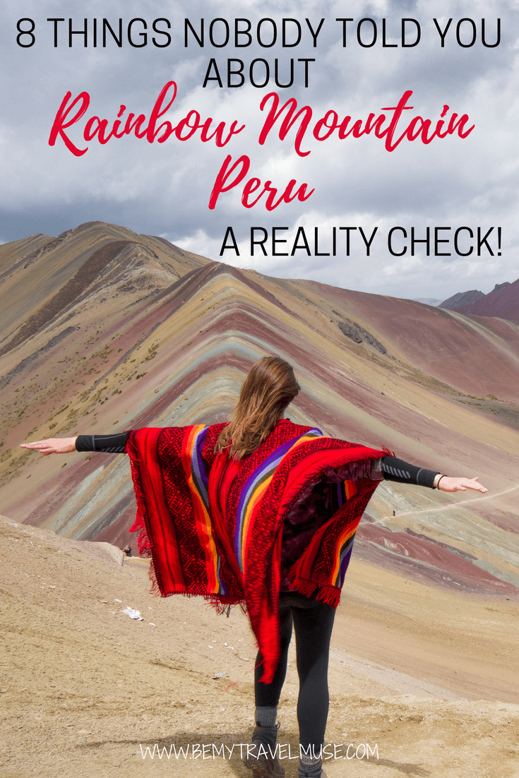 The best guide to Rainbow Mountain, Peru: how to do it right? what it really looks like? Can you handle the altitude? Will the weather be an issue? All of your questions answered in this article | Be My Travel Muse | #SouthAmerica #Peru