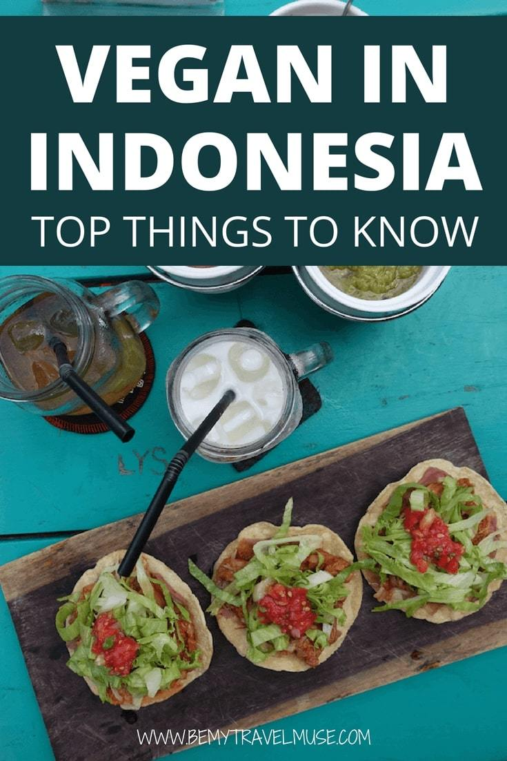 Bali and Lombok are vegan paradise in Indonesia. This is a quick and comprehensive guide to vegan in Indonesia, including cafe recommendations, tips on ordering vegan food at the local restaurants, and Indonesian vegan food options. #Vegan #Indonesia