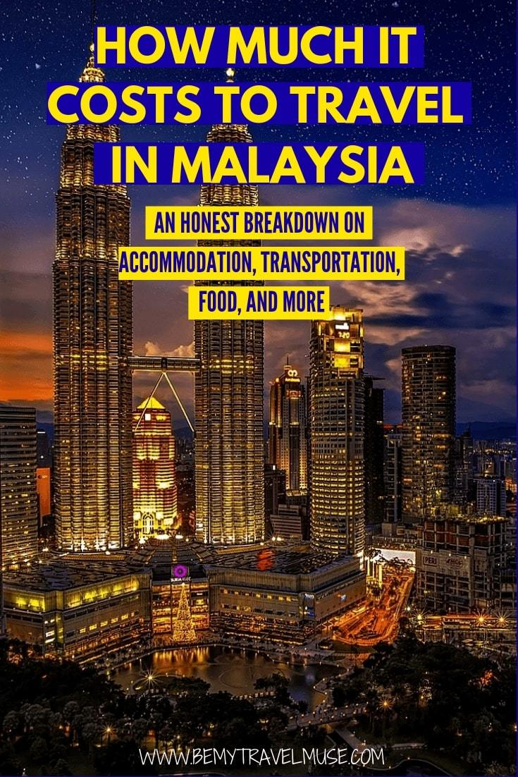 How much it really costs to travel in Malaysia? I was able to travel in Sri Lanka on $37/day. This article breaks down the accommodation, transportation, food and other costs to help you plan an amazing trip to Malaysia on a budget. #Malaysia #MalaysiaTravelTips