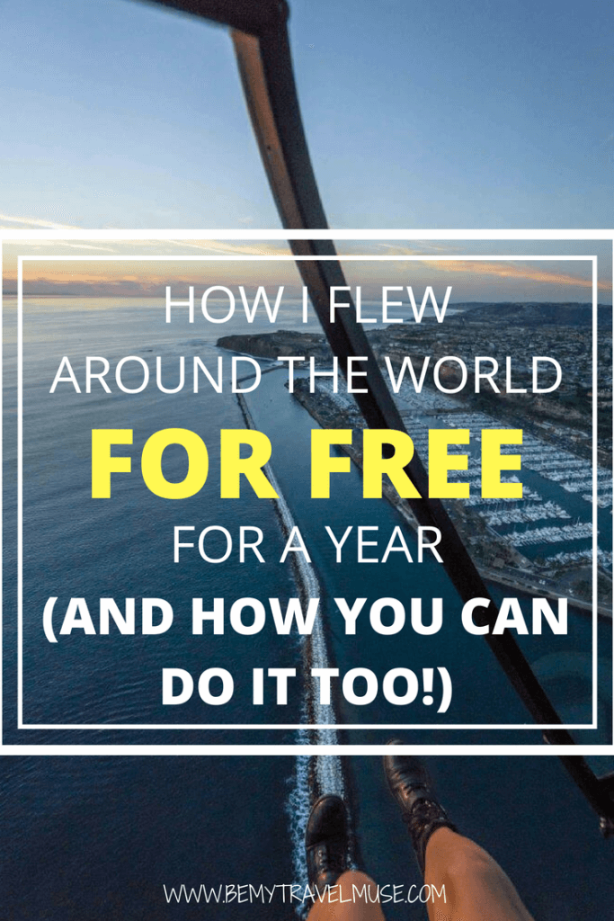 I flew around the world for free for a year using travel hacking. Here are the 5 simple steps I took to travel for free, read to find out how you can do the same! #TravelHacks #FlyForFree