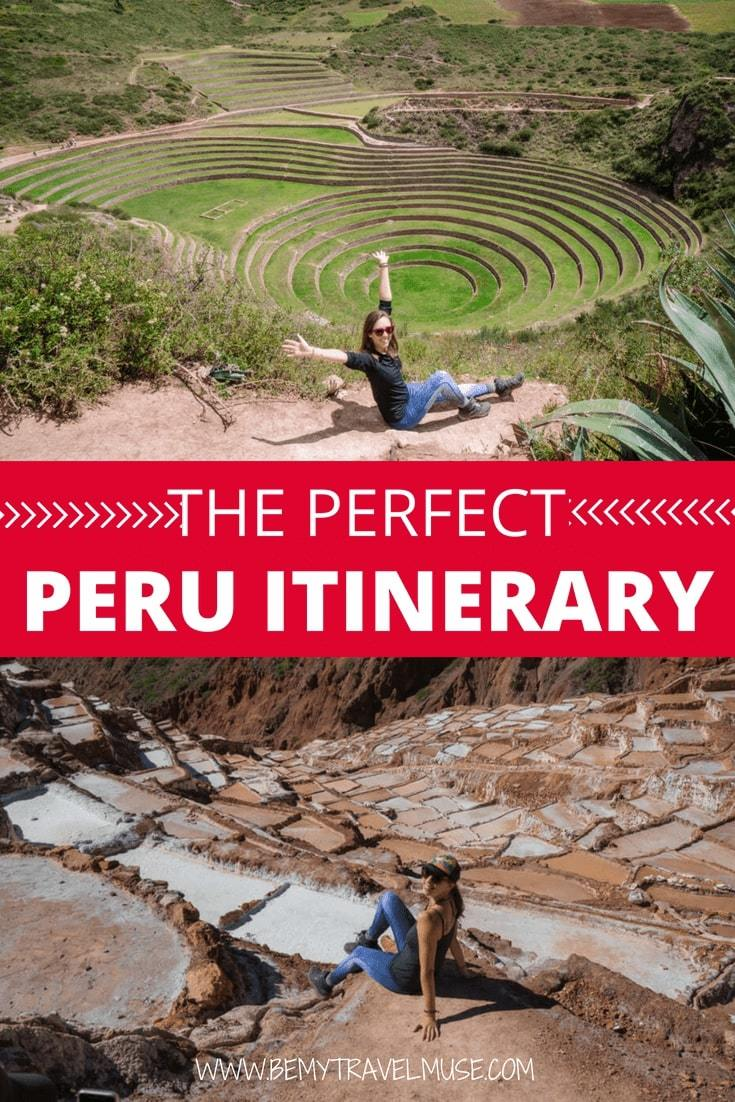 Visiting Peru? Here's an awesome Peru itinerary that covers Lima, Cusco, Huacachina, Rainbow Mountain, The Amazon, and so much more. This itinerary is a South American adventure dream come true! #Peru #PeruItinerary #SouthAmerica