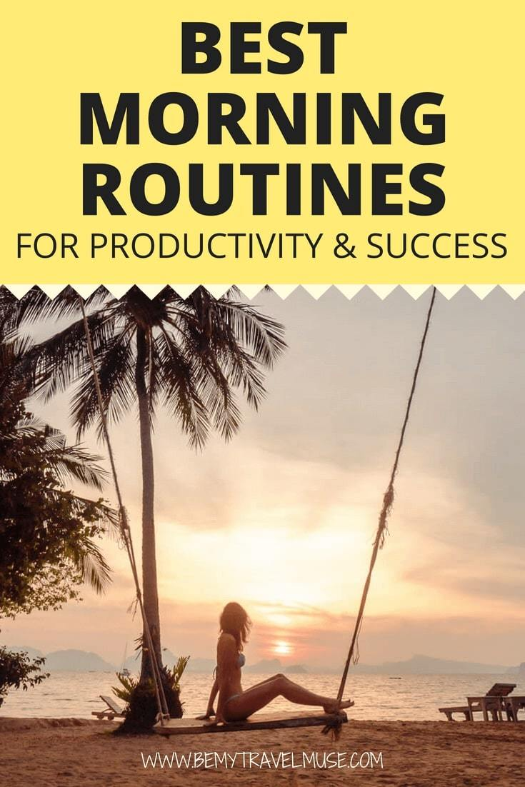 Ever since I adopted these morning routines in my life, I became more productive and successful. With 8 simple things in the morning, you will change your day, or even your life, for the better! #MorningRoutines
