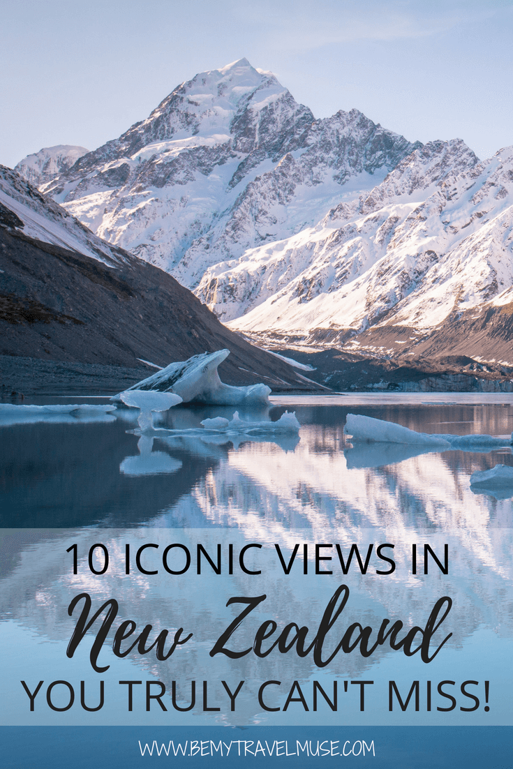 Check out this awesome list of 10 iconic views in New Zealand that you need to add to your New Zealand travel bucket list. Beautiful landscape, gorgeous mountains, stunning lakes, and so much more #NewZealand #NewZealandTravelTips