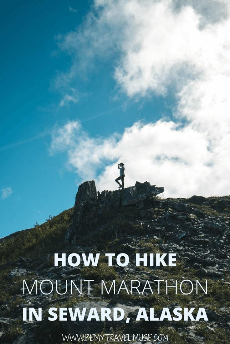 Here's a comprehensive guide to hiking Mount Marathon in Seward, Alaska. Tips on choosing your hiking route, difficulty breakdown, what to expect, and so much more included #MountMarathon #Seward #Alaska